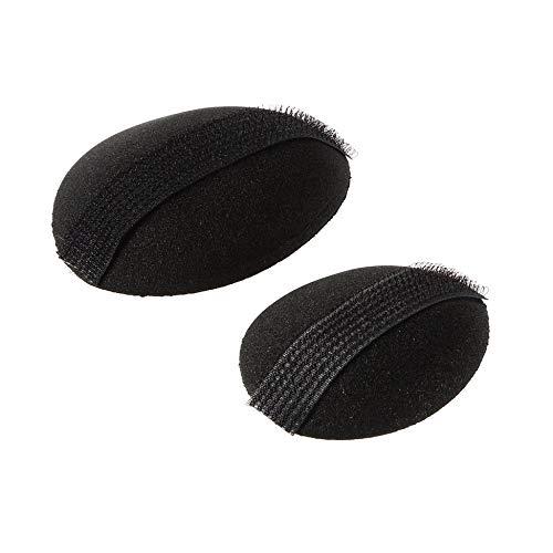 2 pcs Femme Beauté Volume Cheveux Base Bosse Styling Insert Pad Outil Éponge Cheveux Maker Pad Style Cheveux Base Bosse Noir - Noir