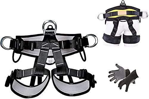 Protección contra caídas Arnés de medio cuerpo Cinturones de seguridad de escalada Montañismo profesional Arnés de escalada en roca para rappel Rescate de incendios Equipo de escalada de árboles