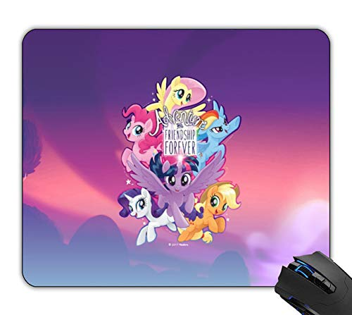 OTTIET Custom My Little Pony Adventure and Friendship Forever Gaming Mouse Pad 9.5 X 7.9 Inch (240mmX200mmX2mm).Non-Slip Thick Rubber Large Mousepad.