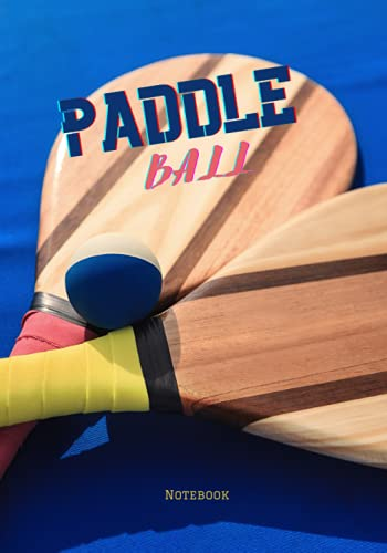 Paddle ball: Lined draft notebook for writing, gift for paddle ball lovers