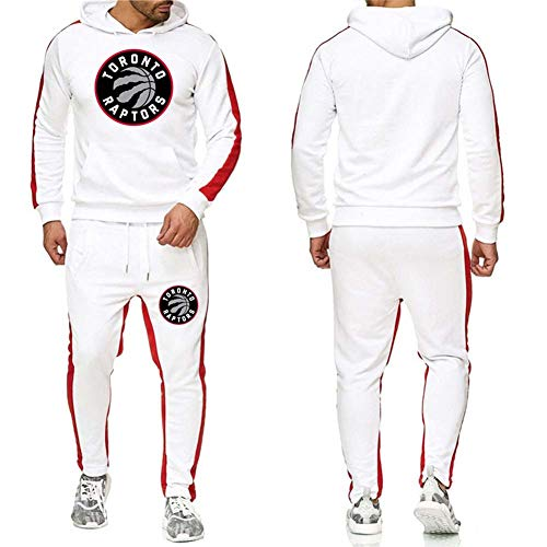 BTCCL Herren Kapuzenpullover NBA Raptors, Herren- Und Damenbasketballanzüge Trainingsanzüge Sportpullover + Hosen