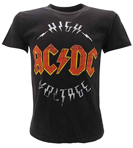 T-Shirt Originale AC DC Bambino Bimbo Ufficiale Maglia Maglietta High Voltage AC/DC (9-11 Anni)