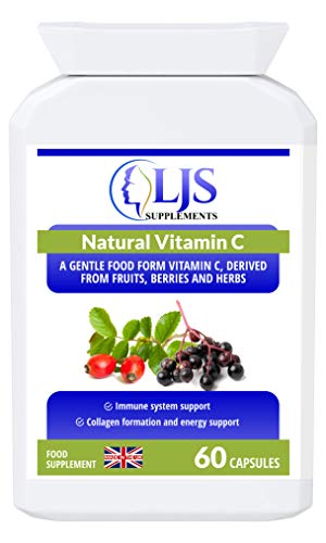 LJS Supplements Natural Vitamin C - Maximum Digestion & Absorption - Growth & Cell Repair - Made in UK.