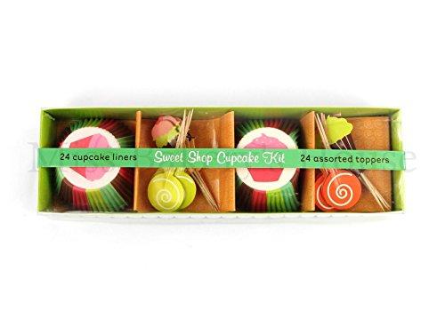 Miss Bakery's House® papieren bakvormen - standaard met topper Sweet Shop Cupcake Kit multicolor