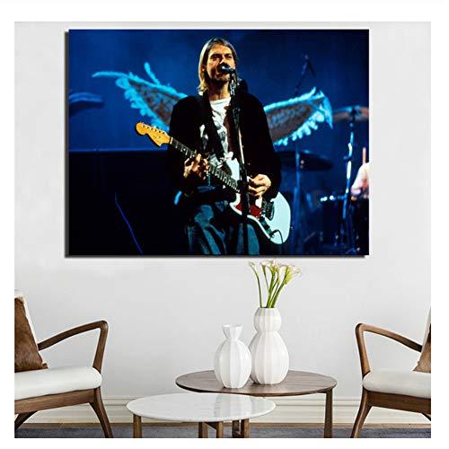Kurt Cobain Sonic Blue Carteles Impresiones Cuadros