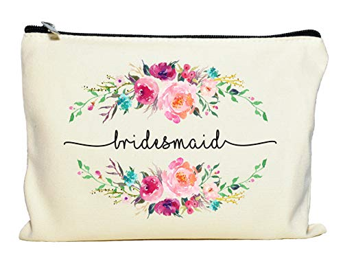 Kate Aspen, Wedding, Party Favor, Gift Gold Foil Bridesmaid Canvas Makeup Bag