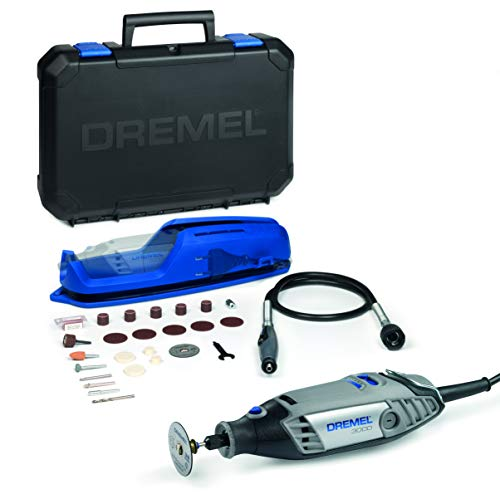 Dremel 3000 - Multiherramienta 130 W, kit con 1 complemento con Eje Flexible y 25 accesorios, velocidad variable 10.000 - 33.000 rpm para tallar, grabar, fresar, amolar, limpiar, pulir, cortar y lijar