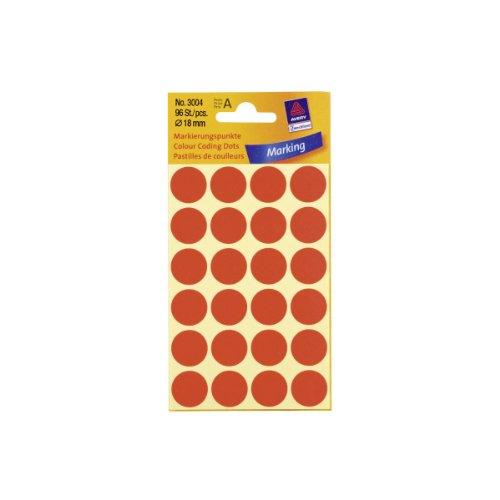 Markierungspunkte, Ø 18mm, PG=96ST, rot