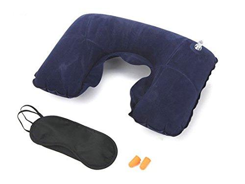 Almohadas de Viaje con Soporte de Cuello. Inflable, Super Suave y Compacta Para Dormir en...
