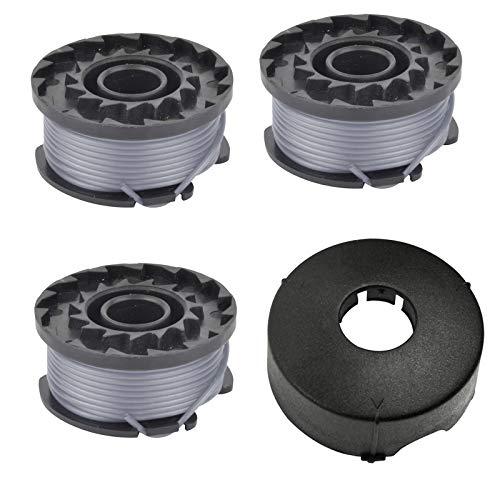 Spares2go - Bobina doble de alimentación + tapa para cortacésped Bosch ART23 (1 tapa, 3 bobinas)