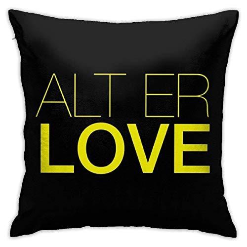 IUBBKI Alt Er Love (Skam) Cuadrado (45cmx45cm) Almohada Hogar Cama Habitación Decoración Interior