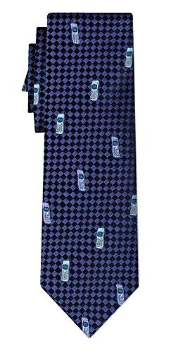 Cravate cellphones blue