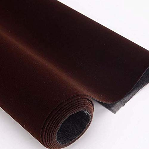 Self Adhesive Velvet Flocking Liner for Jewelry Drawer Art Crafts DIY Project Coffee Color Velvet Fabric Peel and Stick Drawer Velvet Liner 17.7' x 78.7'