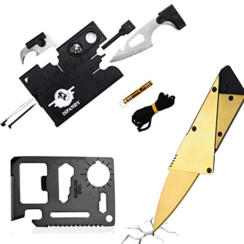 Credit Card Knife Wallet Tool with 18 in 1 Credit Card Tool Pocket Tool,Folding Card Knife Wallet Knife,11 in 1 Multitool Card,3 Type/Set Stocking Stuffers Gift Gadgets for Men,Dad, Mom, Husband