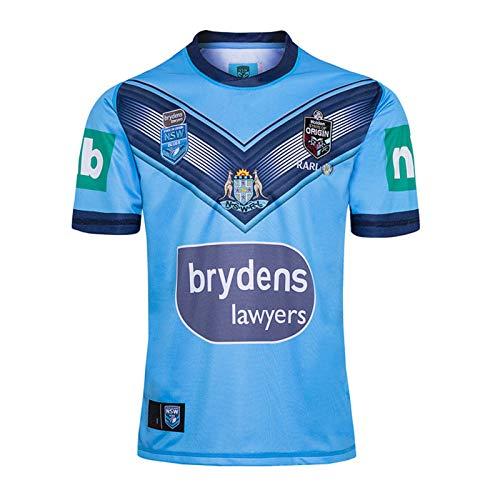 DIWEI Hombre Rugby Jersey, Camiseta De La Copa Mundial De Rugby Langholton 2020,Casual Redondo CháNdales Respirable Camiseta De Fútbol Polo Shirt XL