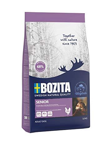 BOZITA Senior Hundefutter - 3.5 kg - nachhaltig produziertes Trockenfutter für Senior Hunde - Alleinfuttermittel