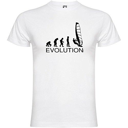 Camiseta Deportes Extremos Evolution Windsurf Manga Corta Hombre Blanco S