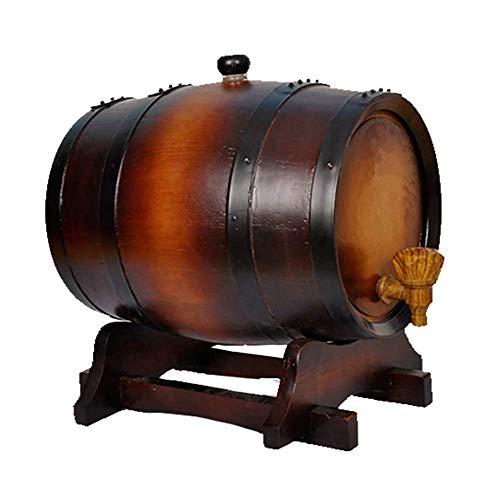 Casier à vin Casier à vin en Bois 5L Wine Barrel Bake Wine Rack Oak Barrel Wine Set (Couleur: Brun foncé, Taille: 5L)