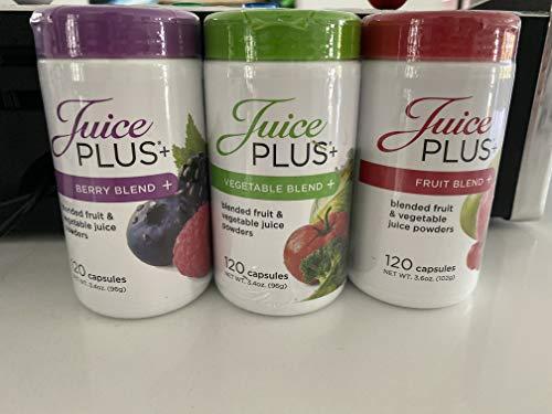Juice Plus Fruit, Berry, Vegetable 3 Bottles 2 Month Supply
