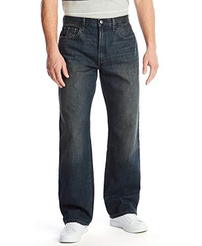 Nautica Men's Loose Fit 5 Pocket Jean Pant, Rigger Blue, 36W 34L