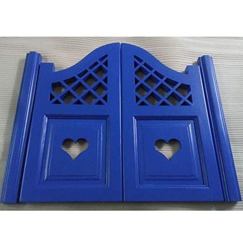 BGSFF Puertas batientes de café, Puerta batiente de salón prefabricada para Interiores con bisagras de pivote de Gravedad Puerta de mayordomo de Pino para Cocina, Personalizable (Color:
