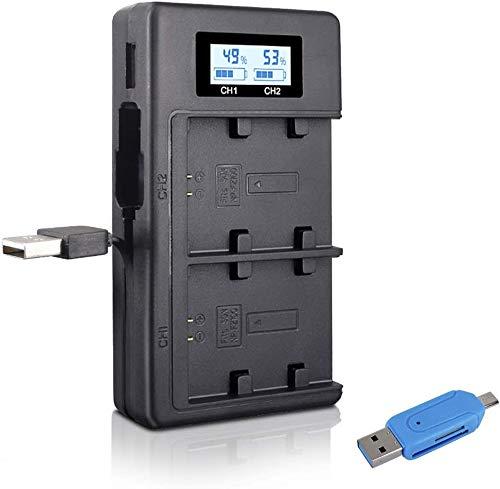CITYORK NP-FZ100 Carregador de bateria LCD Dual USB Fast para Sony NP-FZ100 e Sony Alpha 9, A9, Alpha 9R, A9R, Alpha 9S, A9S, A7RIII, A7R3, a7 III Câmera digital