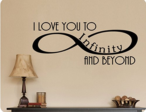 30'x12' I Love You to Infinity and Beyond Symbol Romantic Wall Decal Sticker Art Home DŽcor