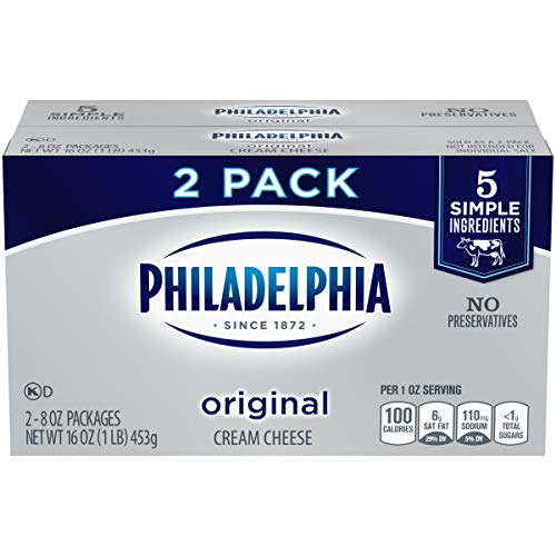 Philadelphia Cream Cheese Brick (8 oz Boxes, Pack of 2)