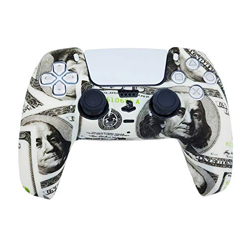 PS5 Silicone Gel Grip Controller Cover Skin Protector (ps5 Money) Compatible for Sony Playstation 5, Compatible for Playstation 5 Accessories, Wireless Controller Protector Covers, PS5 Skin