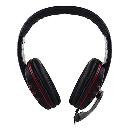 Hoofdtelefoon met kabel voor games. Stereo headset, 5 mm, met flexibele microfoon via hoofdtelefoon voor PS4, laptop, Xbox