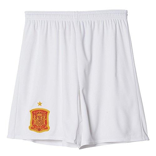 adidas Kinder Trikot/Auswärts-Shorts UEFA Euro 2016 Spanien Replica Auswärtsshort, White, 152