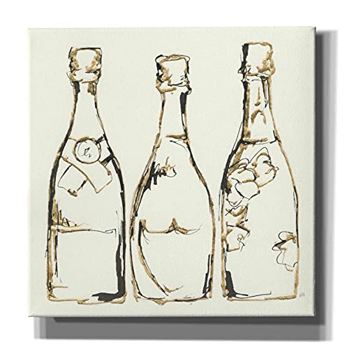 """Epic Graffiti 'Champagne is Grand III' by Chris Paschke, Giclee Canvas Wall Art, 37""""x37"""""""