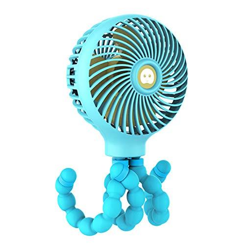 Anself Mini Ventilador de Cochecito Portátil Ventiladores de Aire Portátiles de Escritorio con Trípode Flexible 3 Velocidades Ventilador de Enfriamiento