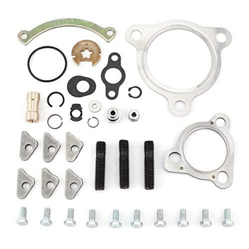 JICHUI KKK K03 Turbolader Turbolader Reparatursatz für Rebuild Dichtung & Schraubensatz(Silber)
