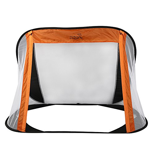 Sizet Portable Easy Storage Two Sides Folding Football Training Net Outdoor Kicking Door
