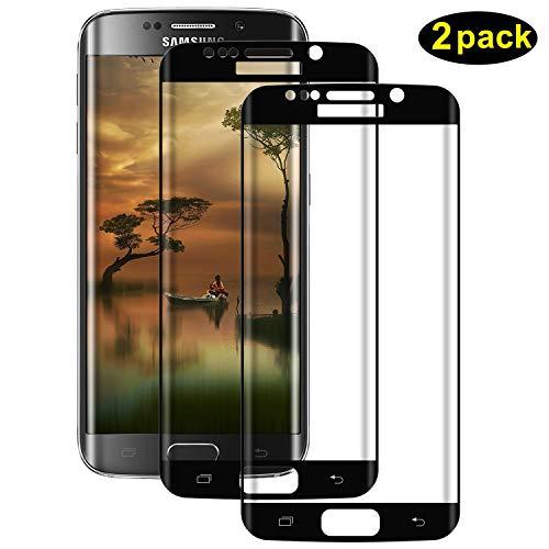 DOSMUNG Panzerglas für Samsung Galaxy S7 Edge, [2 Pack] 3D Double Defense Schutzfolie Panzerglasfolie für Samsung S7 Edge, Displayschutzfolie für S7 Edge, Blasenfrei, 9H Härte, Kratzfest
