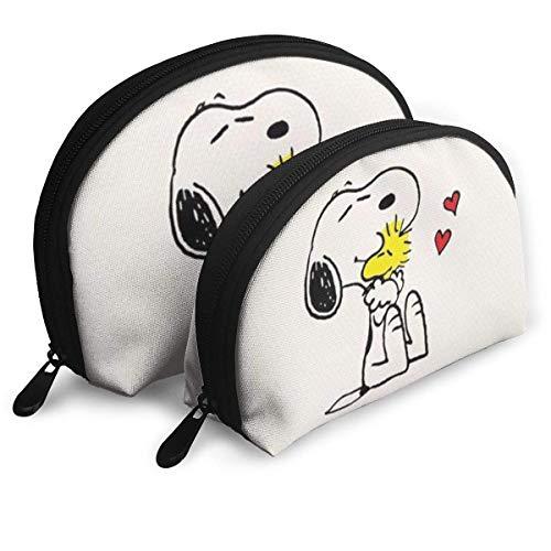 Süße Snoopy Make-up Tasche Reisetaschen Kleine Muscheltasche Tragbare Kultur Clutch Pouch 2St