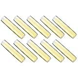 Envase de lápiz labial - Lápiz labial cosmético de bricolaje Tubos vacíos Envases de lápiz labial hechos a sí mismos Tubos de bálsamo labial(amarillo claro)