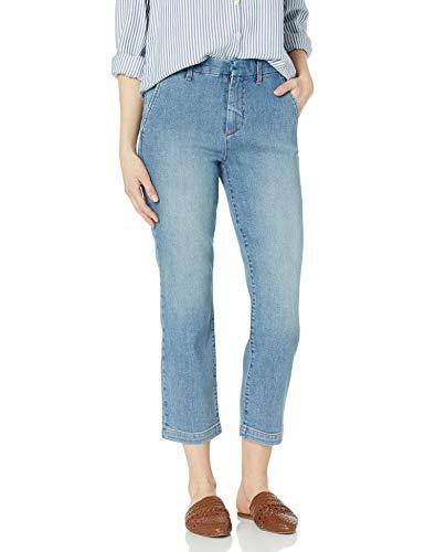Goodthreads Women's Boyfriend Slit Pocket Trouser Jean, Ocean Wash 25