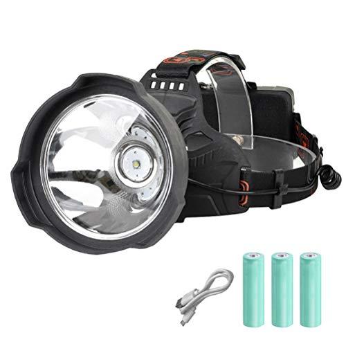 Yissma LED Hardhat Light oplaadbare zaklamp extreem helder handschijnwerper lamp USB oplaadbaar grote draagbare camping lantaarn 6000K