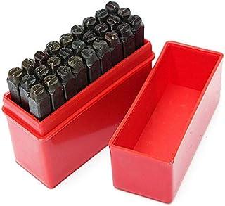 LZKW Forniture per stampaggio di Metalli Set di punzoni per Lettere Kit per stampaggio di Metalli da 6 mm Timbro di Metallo Artigianato per Pelle di Metallo
