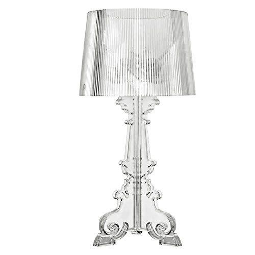 FENGZE Acryl Tischlampe Kristall Nachttischlampe Led Tischlampe Transparent weiß