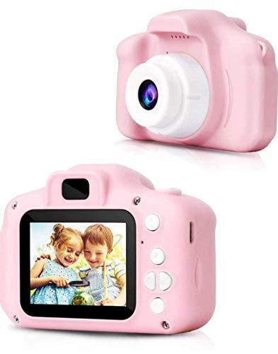 KHODIYAR Kids Digital Video Camera 800W HD 2.0 Inch Screen Video Front Camera Child CameraFull HD 1080P Handy Portable Camera 2.0 Screen, with Inbuilt Games for Kids