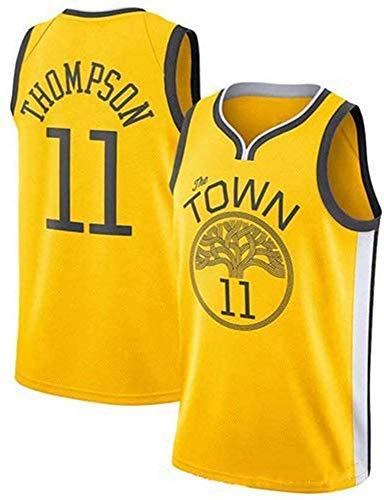 CXJ Jerseys de Hombre - NBA Golden State Warriors # 11 Klay Thompson Basketball Jersey, Retro Transpirable Secado rápido Chaleco Deportivo Tops,XXL(185~190CM/ 95~110KG)