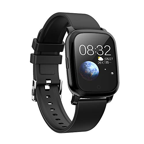 TPW Smart Watch Bluetooth Sports Watch CV06 (2019) IP67 Waterproof Fitness Tracker Business Smartwatch with Heart Rate Monitor, Multi Sport Mode for Android 4.4, iOS 7.0, Silicone Strap, Black…
