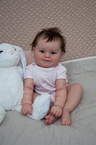 50 Cm Reborn Baby Doll Newborn Girl Baby Lifelike Real Soft Touch Maddie con El Pelo Enraizado A Mano Muñeca Artesanal Artesanal