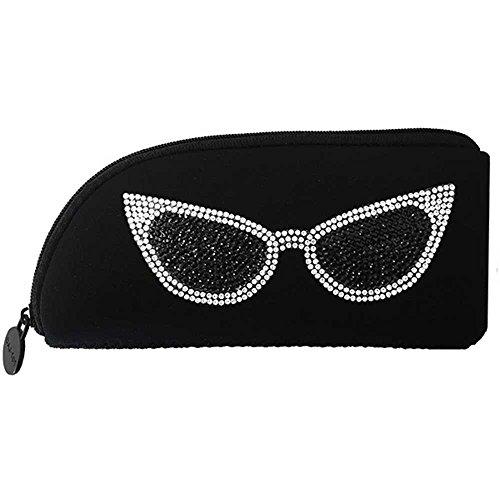 メガネケース ペンケース ソフト [メガネ] メイク 収納 ポーチ 眼鏡 サングラス ファスナー ネオプレン