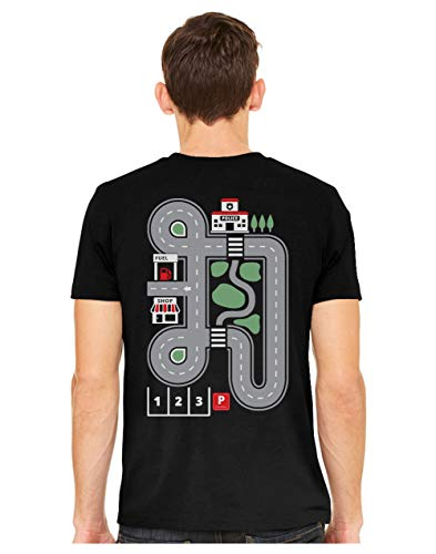 Circuit de Voiture - Cadeau pour Papa Tonton T-Shirt Homme X-Large Noir