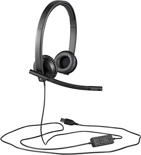 Logitech H570e Kopfhörer mit Mikrofon Stereo-Headset, USB-Anschluss, PC/Mac/Laptop (Generalüberholt)