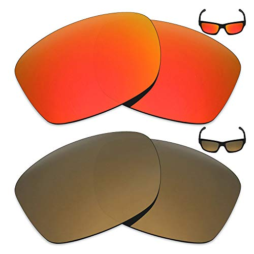 2 pares de lentes polarizadas de substituição da Mryok para óculos de sol Oakley Jupiter Squared – Opções